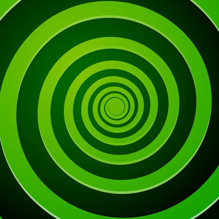 Vector Illustration of Green Spiral Background