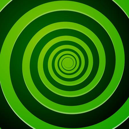 Vector Illustration of Green Spiral Background
