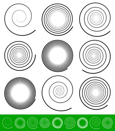 espiral: Ilustración vectorial de un Conjunto Espiral