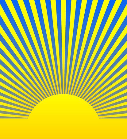 sunshine background: Vector Illustration of Sunrise, Sunshine Background Illustration