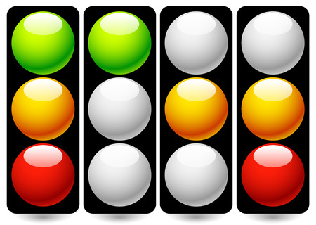 disallow: Vector Illustration of Traffic Lamps  Traffic Lights