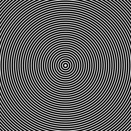 vector Illustration of Concentric Circles. Abstract Black and White Graphics