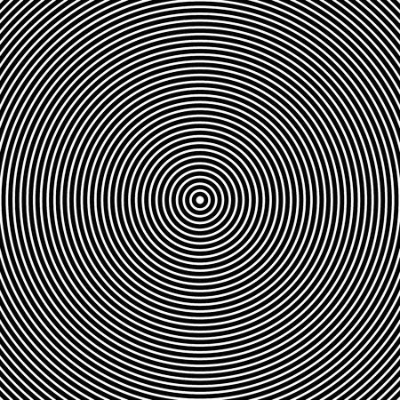 hypnotism: vector ilustraci�n de los c�rculos conc�ntricos. Abstracto Blanco y Negro Gr�ficos