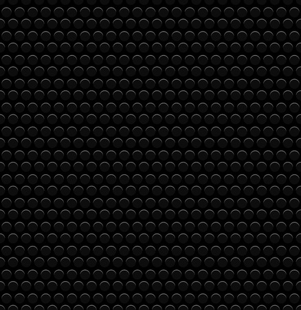 punched: Vector Illustration of Punched Circles, Perforated Background. Dark, Black Carbon Like Pattern. Repeatable
