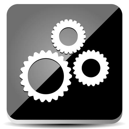 sleek: Vector Illustration of a Sleek Gear Icon