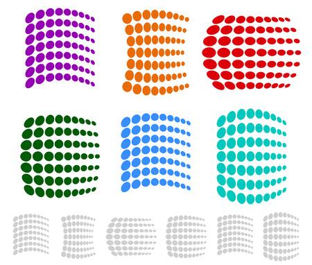 prepress: Dotted Element Set, Eps 10 Vector Illustration
