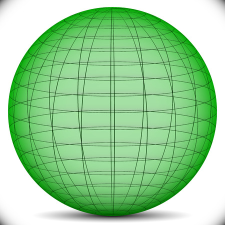 Gridded Or Wireframe Spheres Royalty Free Cliparts, Vectors, And ...