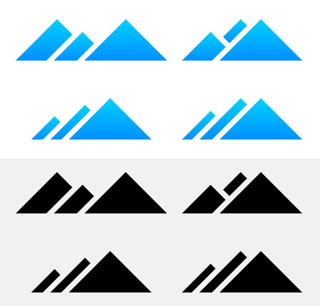 pinnacle: 10 Vector EPS ilustracji szczyt górski symboli Ilustracja