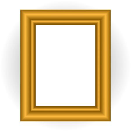 ten empty: Wooden Picture Frame, Eps 10 Vector Illustration Illustration