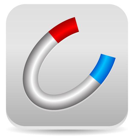 horseshoe magnet: Eps 10 Vector Illustration of Horseshoe Magnet Icon