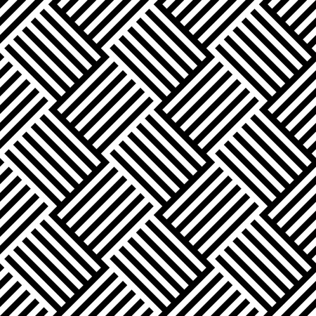 Black and White Pattern with Alternating Lined Squares, Eps 10 Vector Illustration
