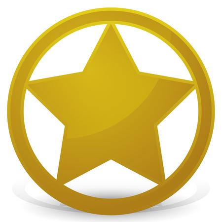 sherif: Sheriffs Star - Badge, Eps 10 Vector Illustration Illustration