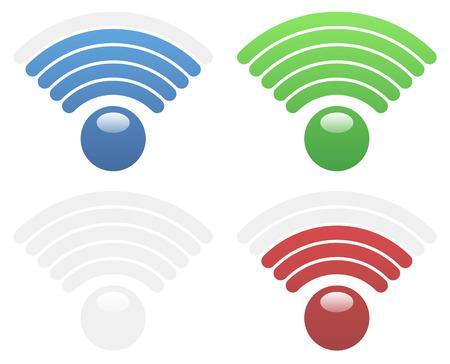 wireless hot spot: Signal Strength Indicators, Eps 10 Vector Illustration Illustration