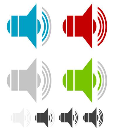 multi media: Volume simboli, Eps 10 illustrazione vettoriale