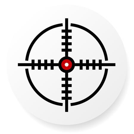 십자선, 십자선 아이콘, Eps 10 벡터 일러스트 레이션