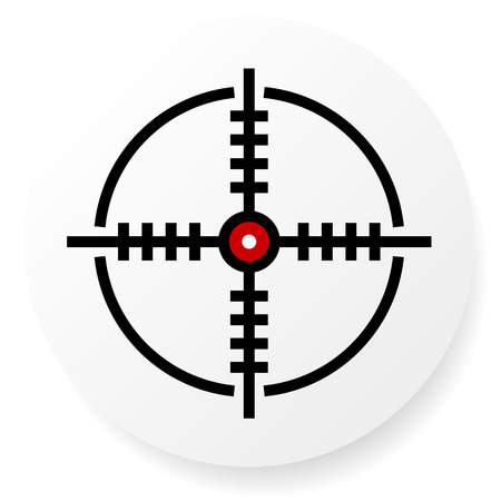 focal: Reticle, Cross-hair Icon, Eps 10 Vector Illustration
