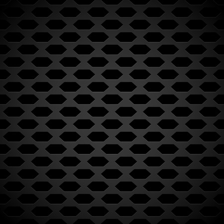 holed: Dark Carbon-Like Background Pattern with Seamlessly Repeatable Geometry, Eps 10 Vector Illustration