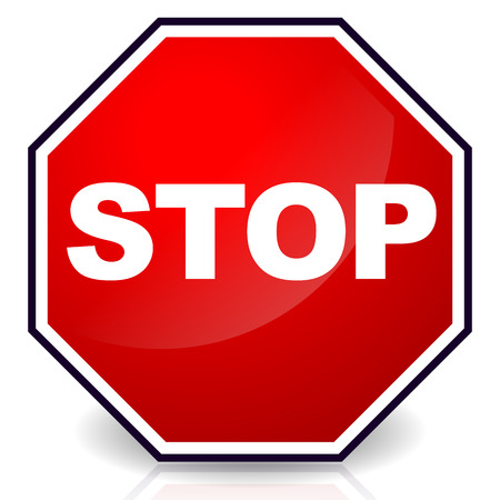 Stop sign, Eps 10 Vector Illustration