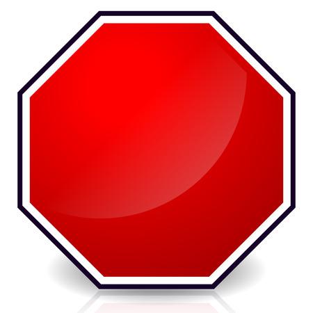 Blank stop sign, Eps 10 Vector Illustration