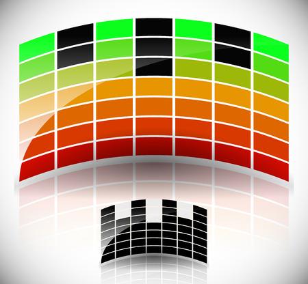 eq: Glossy, Arching Equalizer, EQ. Black, Symbol Version Included