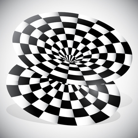 surrealistic: Abstract Object with Checkered Surface