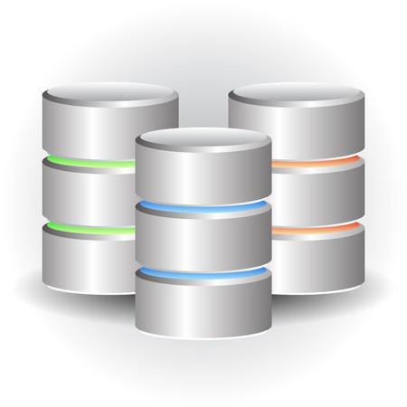Iconos cilindro. HDD, Conceptos Webhosting