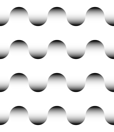 monocrome: Repeatable Pattern with Rounded, Wavy Shapes