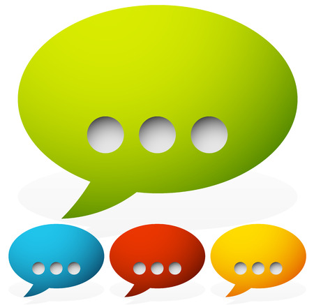 punctuation mark: Speech bubbles with ellipsis punctuation mark Illustration
