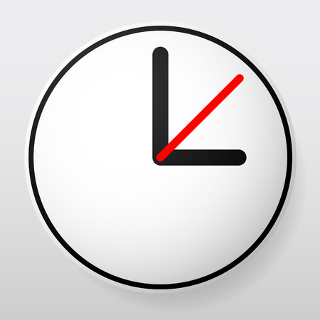 second: Clock Graphics, Clock Icon. Editable clock with hour, minute and second pointers. Time, schedule, fastness concepts Illustration