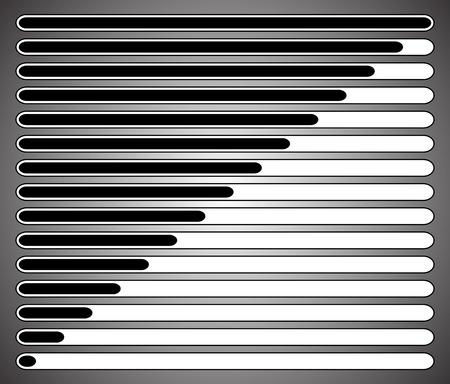 progressbar: Progress loading bars. Vector