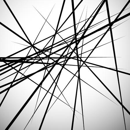 ランダムな行の抽象的な背景。グラフィックのようなモダンな最小限の (現代) 美術  イラスト・ベクター素材