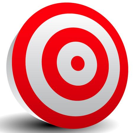 Red Bullseye Target