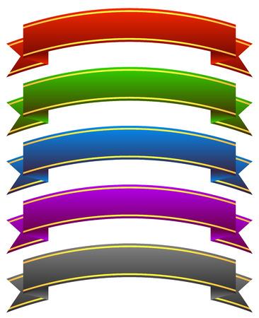 arching: Arqueadas Banners w. Rayas de oro