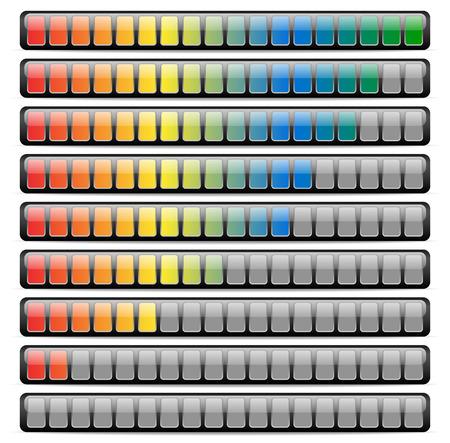 Colored Horizontal Progress Bars