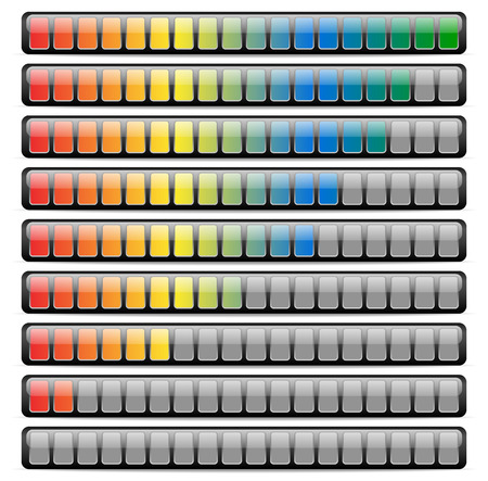Colored Horizontal Progress Bars
