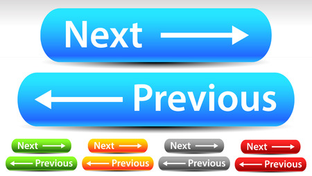 back and forth: Rounded Next Previous Buttons with Arrows