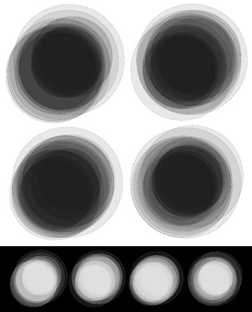 disordered: Random Overlapping Transparent Circles with Thin Outlines in Black and White