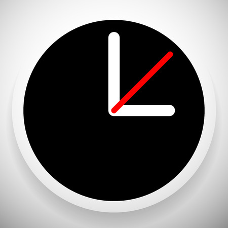 analog dial: Clock Graphics, Clock Icon. Editable clock with hour, minute and second pointers. Time, schedule, fastness concepts Illustration