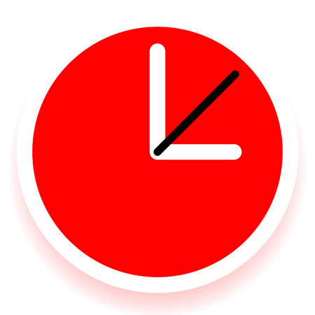 Clock Graphics, Clock Icon. Editable clock with hour, minute and second pointers. Time, schedule, fastness concepts Illustration