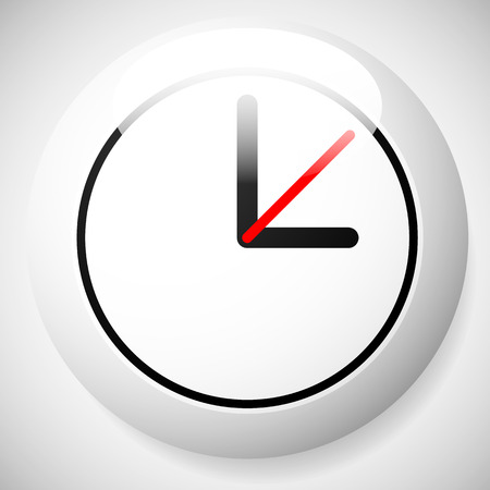 fastness: Clock Graphics, Clock Icon. Editable clock with hour, minute and second pointers. Time, schedule, fastness concepts Illustration