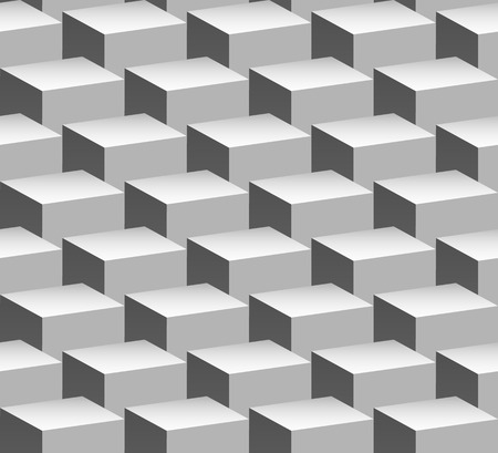 overlapping: Seamlessly Repeatable Pattern with Overlapping Cubes Illustration