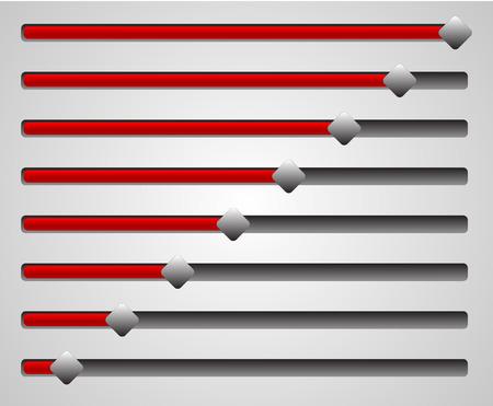potentiometer: Horizontal Sliders  Faders Illustration