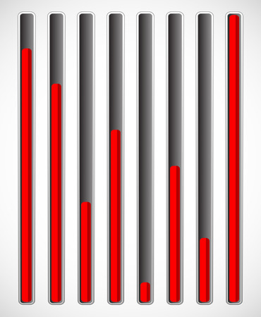 admeasure: Vertical level indicators. Illustration