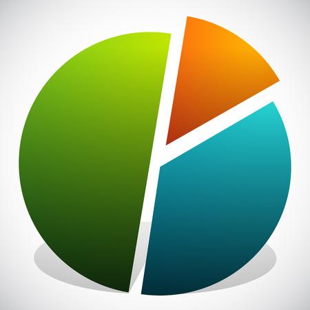 third wheel: Pie Chart Vector Graphics. Pie Chart, Pie Graph Element Illustration