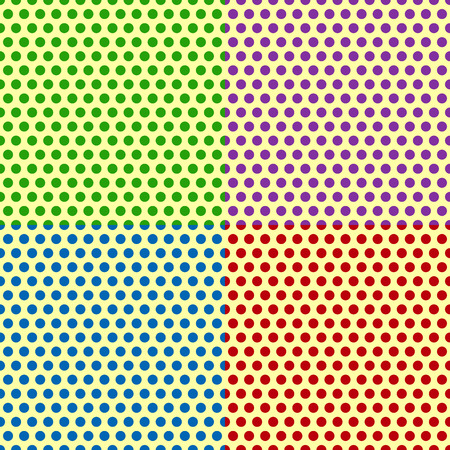 gradation art: Set of Seamlessly repeatable dotted, polka dot backgrounds, patterns.