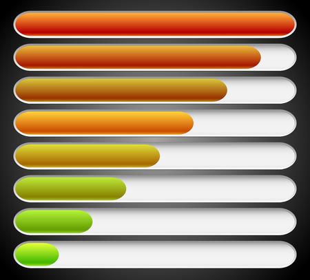 gagant: Des barres de progression de chargement. Vecteur