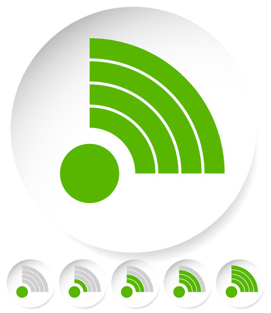 antena: Signal Stength Indicator Set. Internet, Wifi, Wireless Connection. Illustration