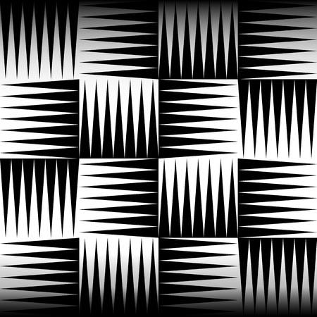 puntig: Puntige, scherpe vormen naadloze patroon met schaduw