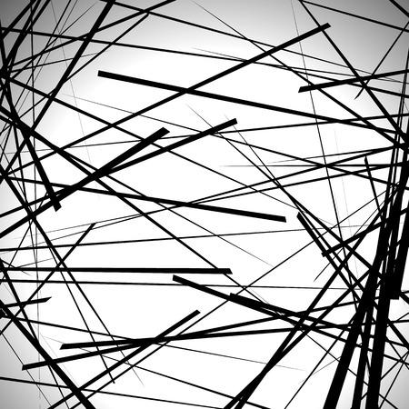 randomness: Random lines abstract background. Modern, minimal (contemporary) art like graphics