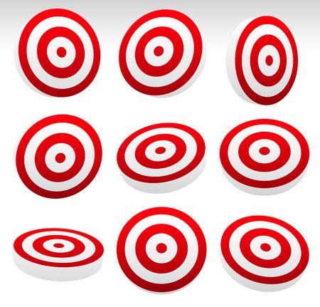 bullseye: Red Bullseye Target Set